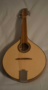 Walnut flat top mandolin